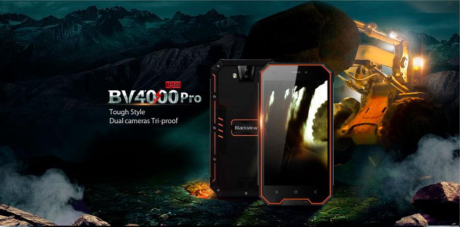 Blackview BV4000 Pro Sunshine Orange – это защищенный 3G смартфон для активных мужчин