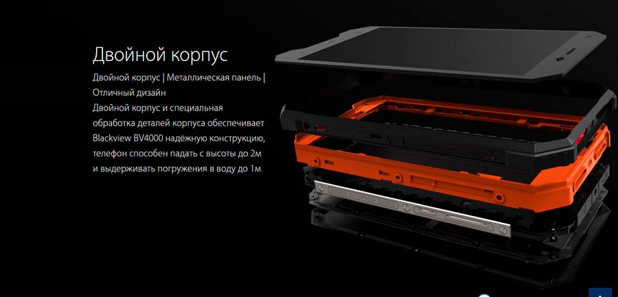 Смартфон Blackview BV4000 Pro Sunshine Orange действительно заслуживает внимания