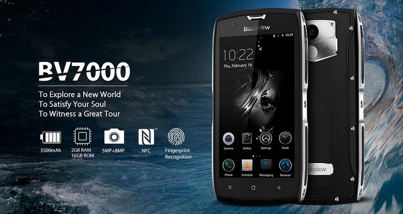 В смартфон Blackview BV7000 Gold установлен аккумулятор на 3500 мАч, что позволяет жить смартфону двое суток