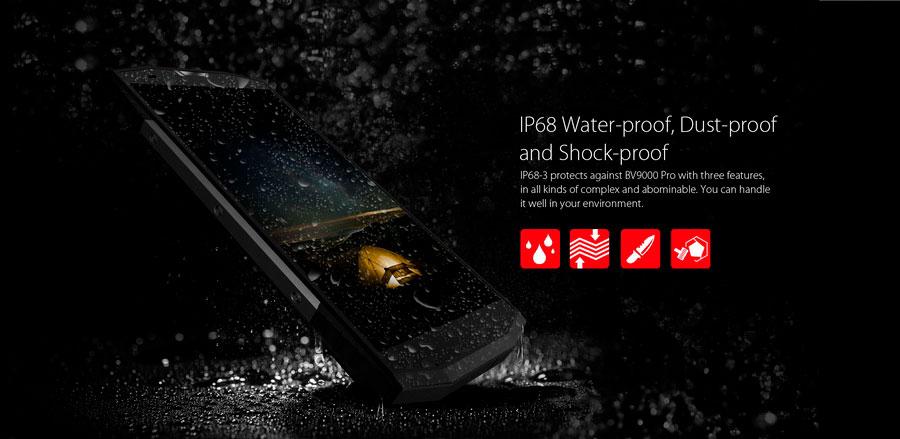 Blackview BV9000 Pro получил 5,7-дюймовый IPS дисплей с разрешением 1440 х 720 точек, защищенный стеклом Gorilla Glass 5