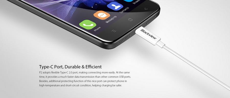 Смартфон Blackview P2 Lite Black рассчитан для пользователей среднего сегмента