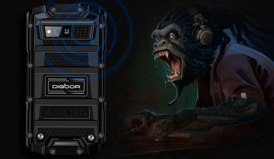 Защищенный телефон с рацией DIGOOR DG1. Телефон сертифицирован по стандарту защиты IP-68