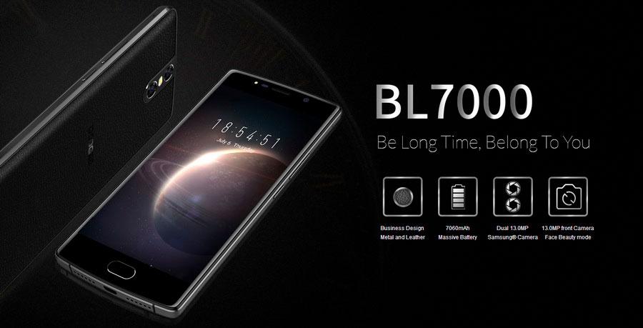 Doogee BL7000 Blue смартфон с тремя 13 Мп камерами и батареей на 7060мАч