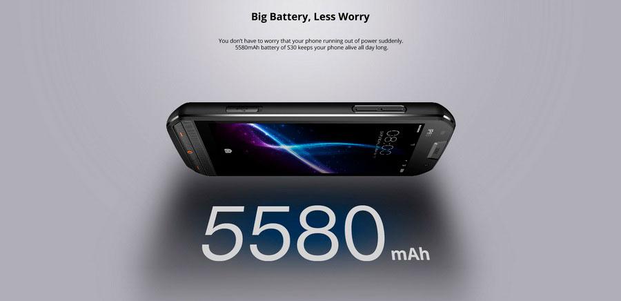 ЗАЩИЩЕННЫЙ телефон Doogee S30 Black, Противоударный ДуДжи С30 Блек и водонепроницаемый