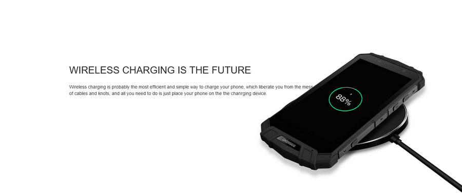 Doogee S60 Silver: первый ударопрочный водонепроницаемый смартфон с технологией беспроводной зарядки