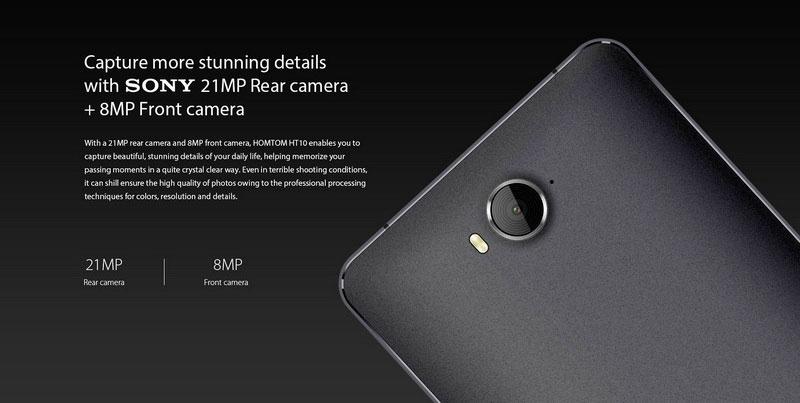 Homtom HT10 White основная камера 21 Мп