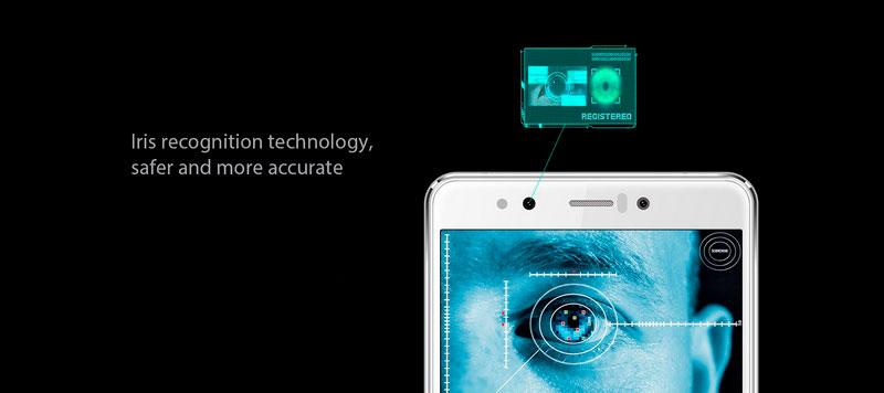 Homtom HT10 White в модели уже есть сканер сетчатки глаза