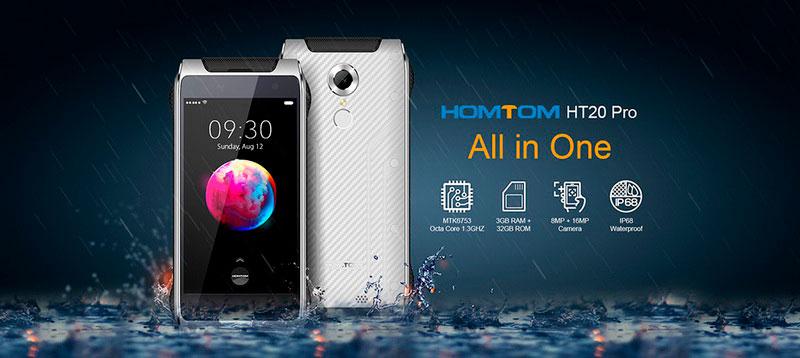 Homtom HT20 Pro Orange защищённый смартфон тонкий и стильный гаджет
