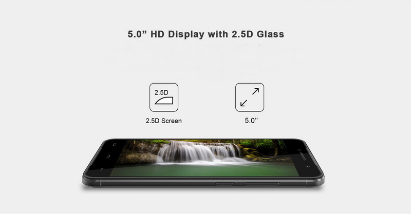 Homtom HT37 Silver смартфон имеет 2Gb RAM 16Gb ROM