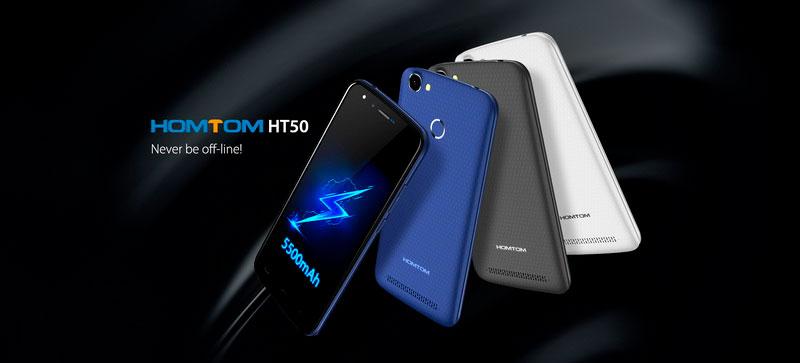 Homtom HT50 Royal Blue 3Gb RAM 32Gb ROM новый мощный смартфон