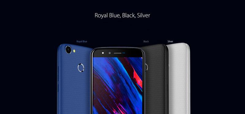 Homtom HT50 Royal Blue недорогой смартфон с аккумуляторон 5500 Мач