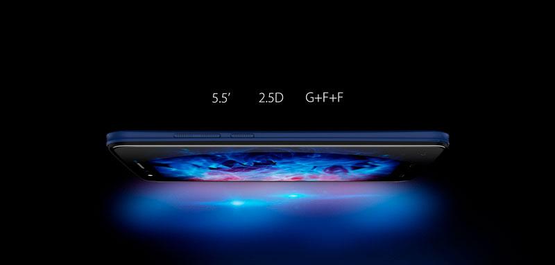 Homtom HT50 Royal Blue бюджетник из Китая с экраном 5,5 дюймов и стеклом 2,5D