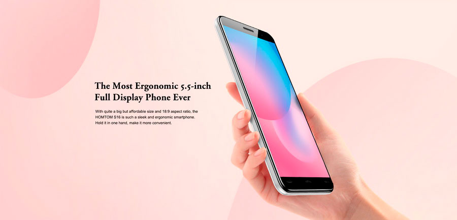 HomTom S16 самый доступный смартфон с дисплеем диагональю 5,5