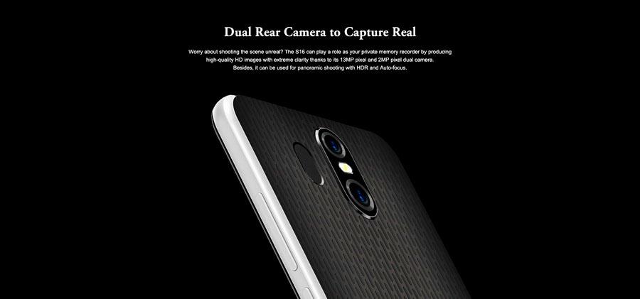 HomTom S16 – бюджетный смартфон с необычайным дизайном, сканером отпечатков пальцев, сдвоенной камерой и соотношением сторон дисплея 18:9