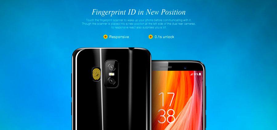 Китайский 4G-смартфон с узким экраном 18:9 и датчиком отпечатков пальцев