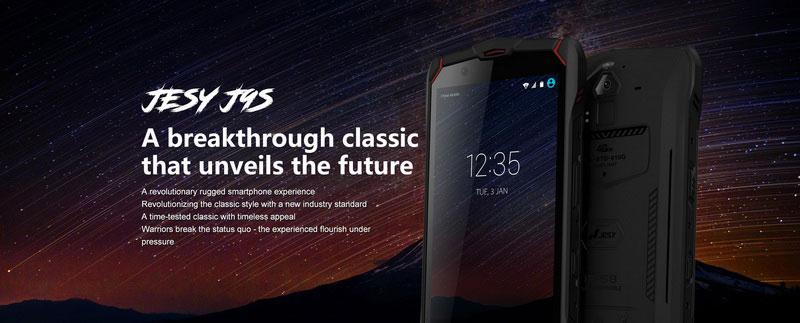 Jesy J9s Водонепроницаемый новый мобильный телефон IP68
