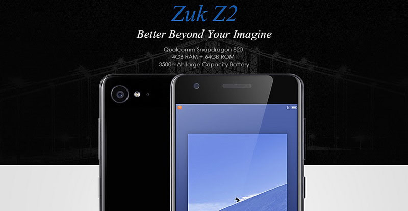 Lenovo Zuk Z2 White (4GB RAM Snapdragon 820)  смартфон новинка 2017 года
