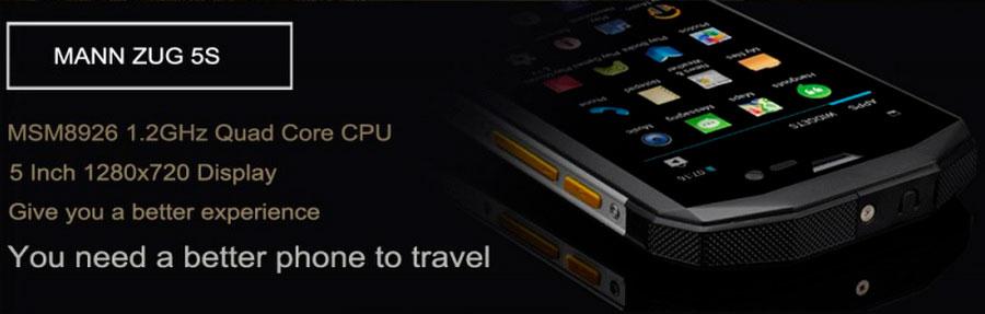 Mann ZUG 5S. Противоударный защищенный смартфон от известного бренда Mann