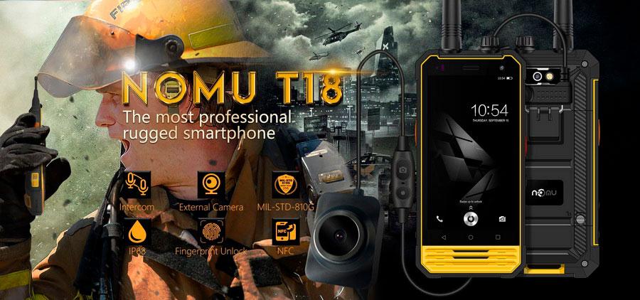 Профессиональный защищенный смартфон Nomu T18