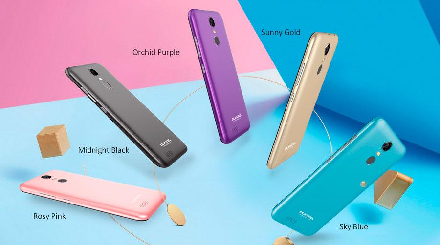 Oukitel C8 - бюджетный смартфон с узкими рамками и закругленным дисплеем на базе Android 7