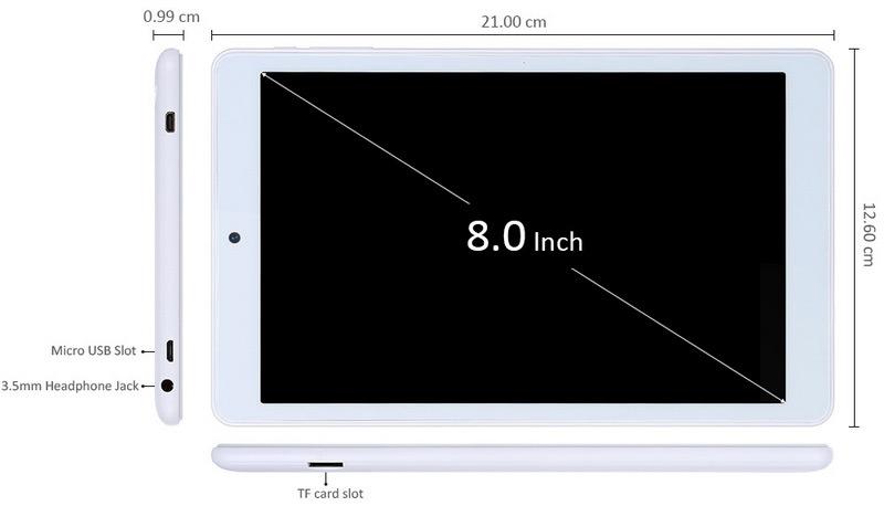 Teclast P80h тонкий планшет всего 1 см и экран 8 дюймов
