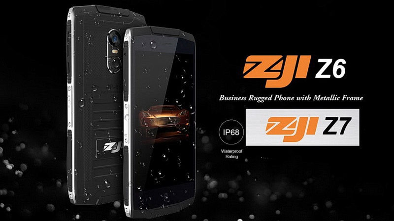 Zoji Z6 очень тонкий защищенный смартфон всего 10 мм