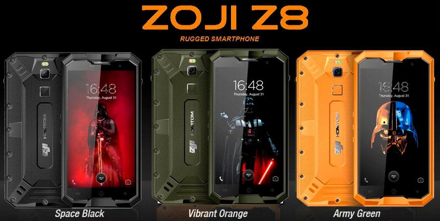 Компания Homtom под своей сравнительно свежей маркой ZOJI представила еще одну защищенную новинку ZOJI Z8