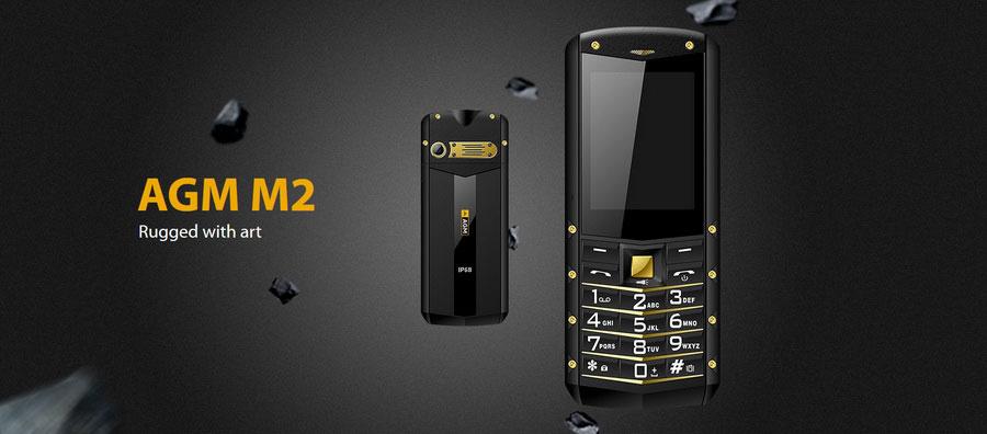 Стильный защищенный телефон AGM M2