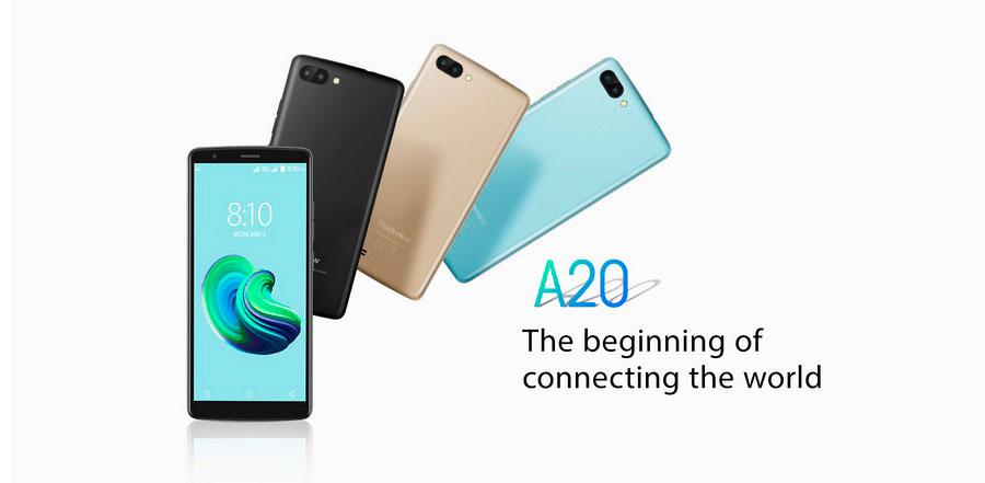 Blackview A20 Gold - лучший бюджетный смартфон. Оригинальный телефон из Китая