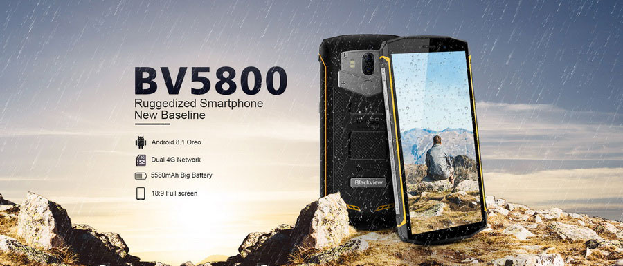 Blackview BV5800 Yellow новинка в 2018 году покорила рынок противоударных смартфонов
