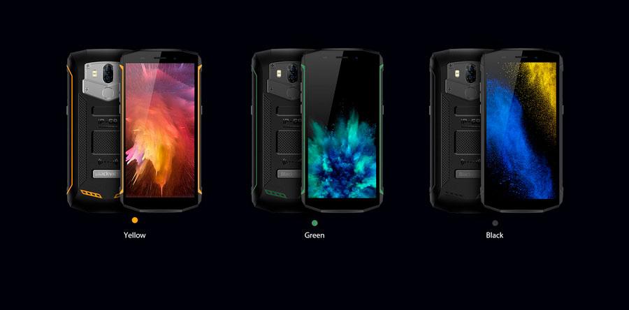 Blackview BV5800 Black новый недорогой защищенный смартфон с беспроводной зарядкой