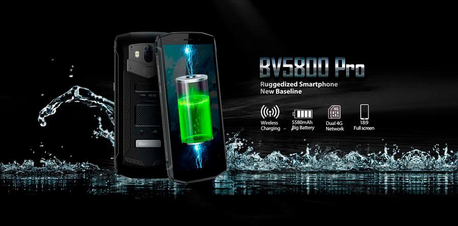 Защищённый и водонепроницаемый смартфон IP68 Blackview BV5800 Pro Yellow