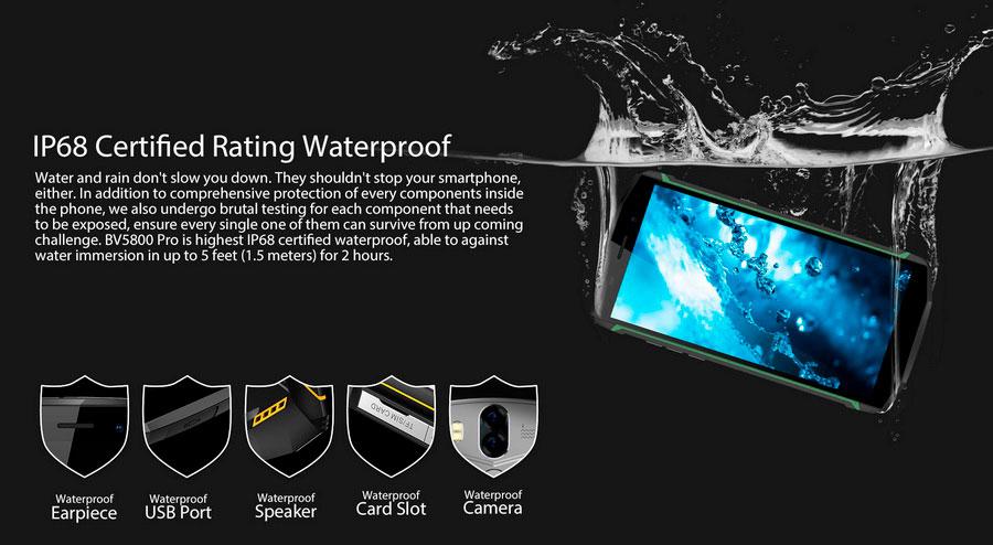 Blackview BV5800 Pro имеет дисплей 18:9, защита IP68, акб 5580 мач