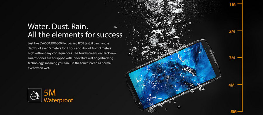 Новый Blackview BV6800 Pro: Android 8, NFC и IP69K
