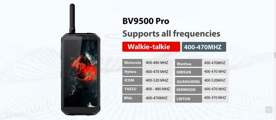 Защищенный смартфон Blackview BV9500 Pro Yellow получил функцию рации