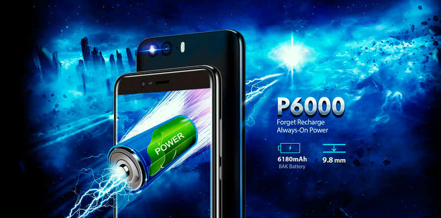 Blackview P6000 Dazzle Blue – без ударопрочного корпуса, но с батареей на 6180 мАч
