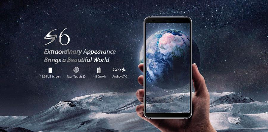 Blackview S6 16GB Black новый смартфон, получивший 5,7-дюймовый дисплей с соотношением сторон 18:9 и разрешением 1440 х 720 точек