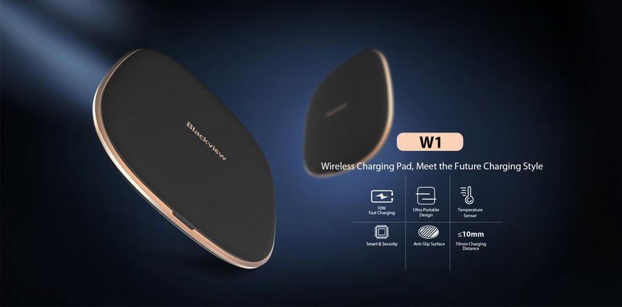 Беспроводное зарядное устройство Blackview W1 (Qi) Black