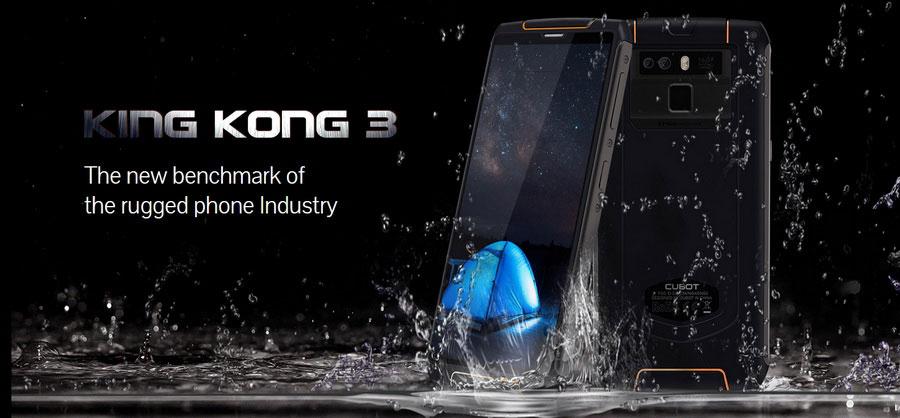 Cubot King Kong 3 защищенный смартфон c SoC Helio P23