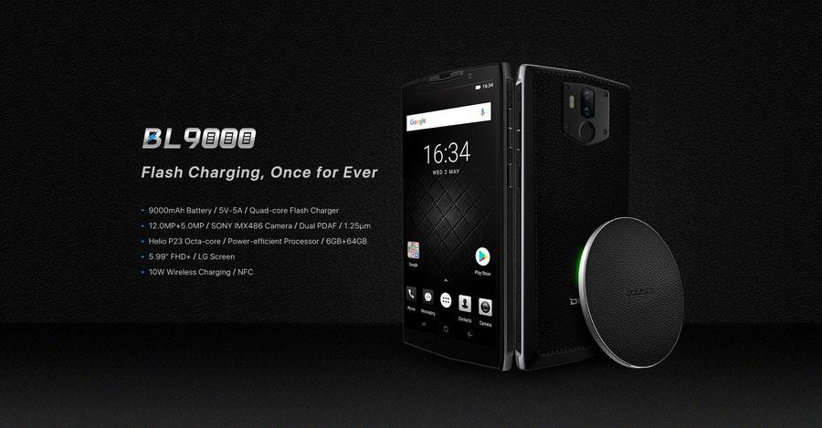 Doogee BL9000 Silver Edge смартфон с мощным аккумулятором 9000 мАч