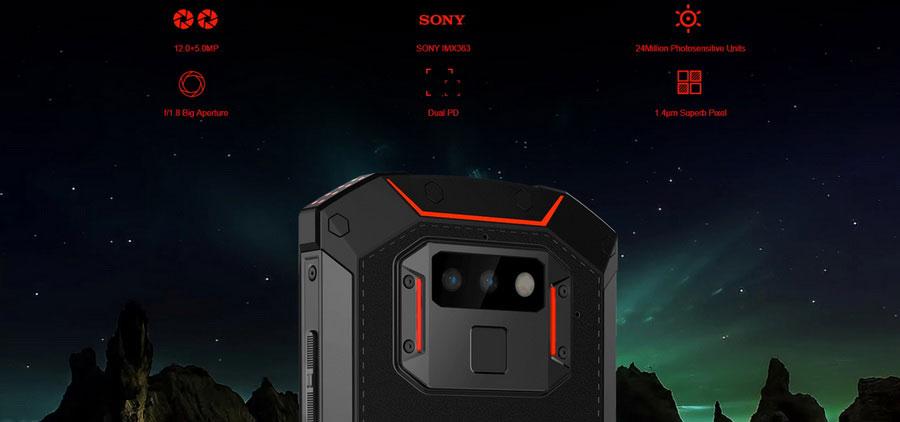Doogee S70 Orange Сдвоенная камера Sony IMX363 с разрешением 12 МП + 5МП