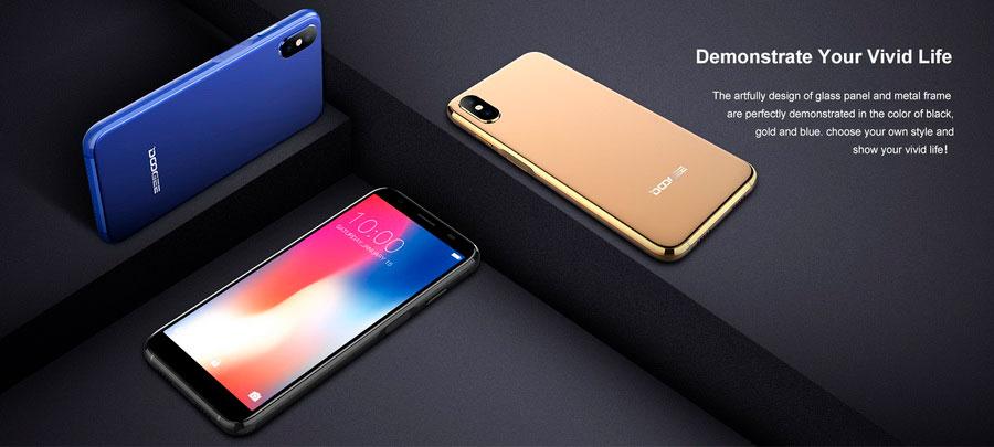 Doogee X55 5.5-дюймовый дисплей 18:9 и MT6580