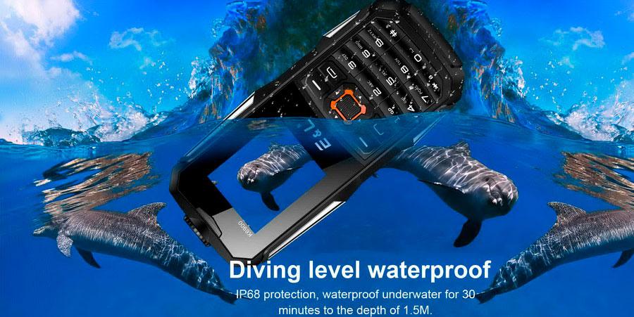 EL K6900 защищенный телефон водостойкий ударопрочный