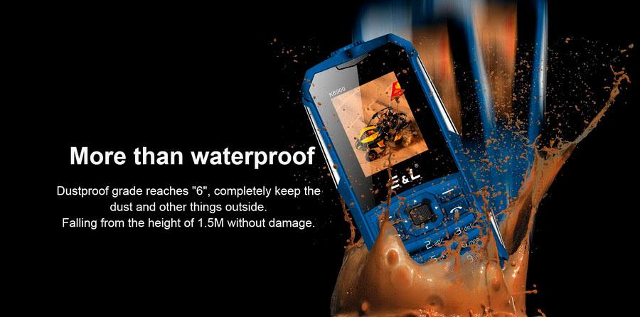 Защищенный по IP68 кнопочный телефон EL K6900