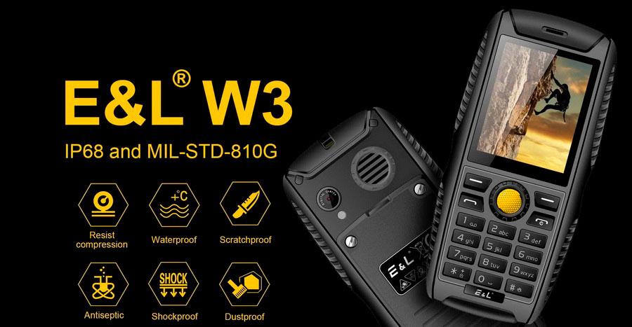EL S200 Yellow (E&L W3) водонепроницаемый ударопрочный телефон ip68