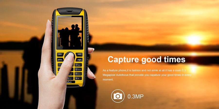 EL S200 Yellow (E&L W3) кнопочный защищенный телефон на 2 сим карты, водонепроницаемый, противоударный