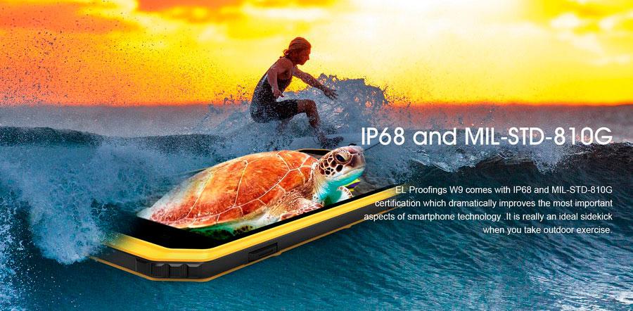 EL W9 Yellow (E&L W9) тонкий защищенный и противоударный смартфон