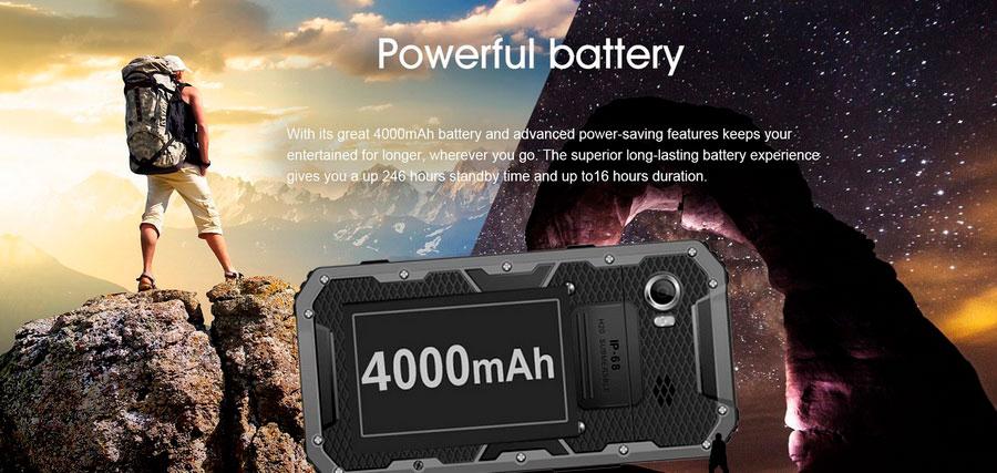 EL W9 Yellow (E&L W9) водонепроницаемый и стильный смартфон IP68