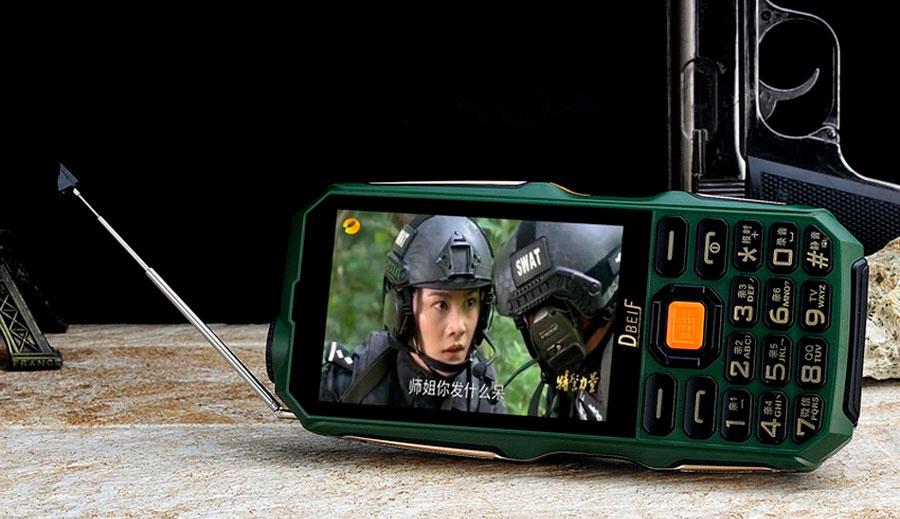 Телефон Повербанк Land Rover D2017 (Dbeif) Camouflage с мощным аккумулятором 1880мАч