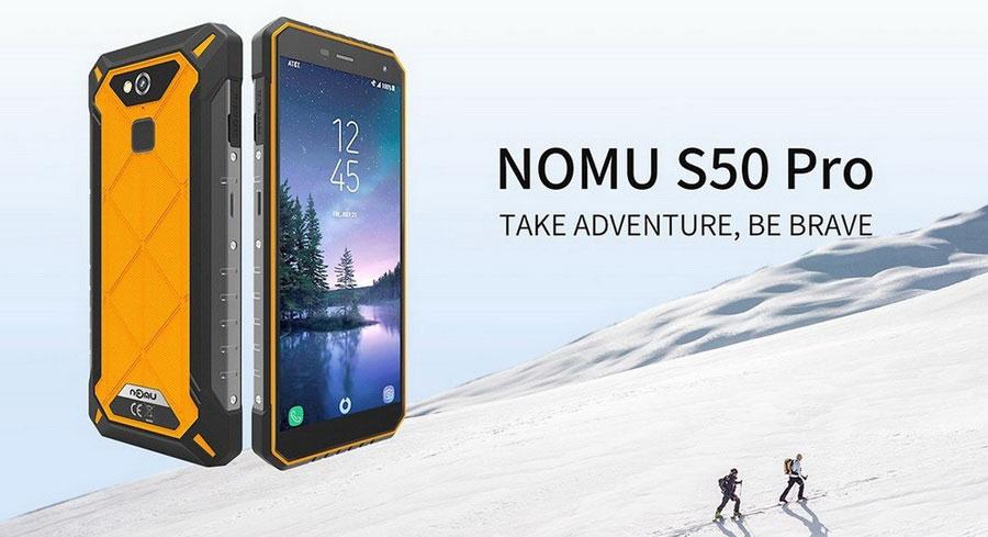 Nomu S50 Pro 5.72 дюймов, IPS, IP68, 1440 x 720, ОЗУ 4ГБ, ПЗУ 64ГБ, 8 ядер, MTK6763, 2.0ГГц, 16МП, Android 8.1, 5000мАч